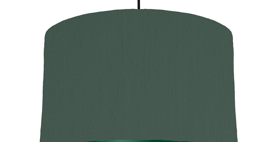 Bottle Green & Forest Green Lampshade - 40cm Wide