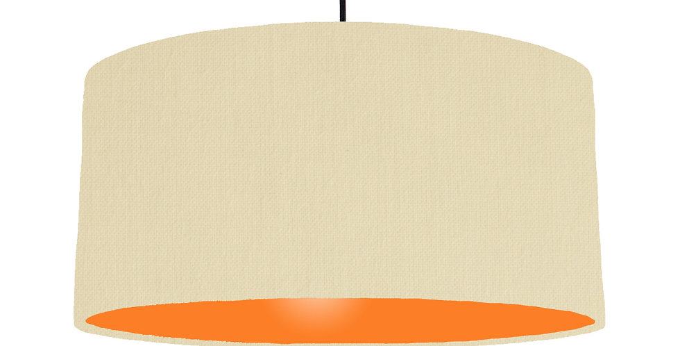Natural & Orange Lampshade - 60cm Wide