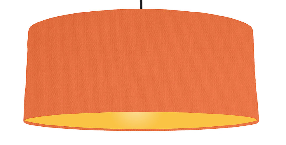Orange & Butter Yellow Lampshade - 70cm Wide