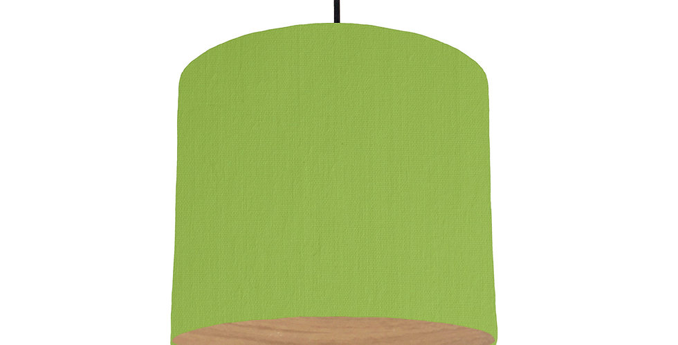 Pistachio & Wood Lined Lampshade - 25cm Wide