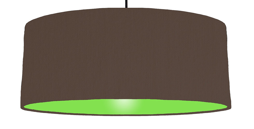 Brown & Lime Green Lampshade - 70cm Wide