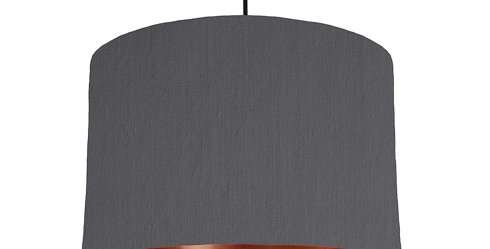 Dark Grey & Copper Mirrored Lampshades - 30cm Wide