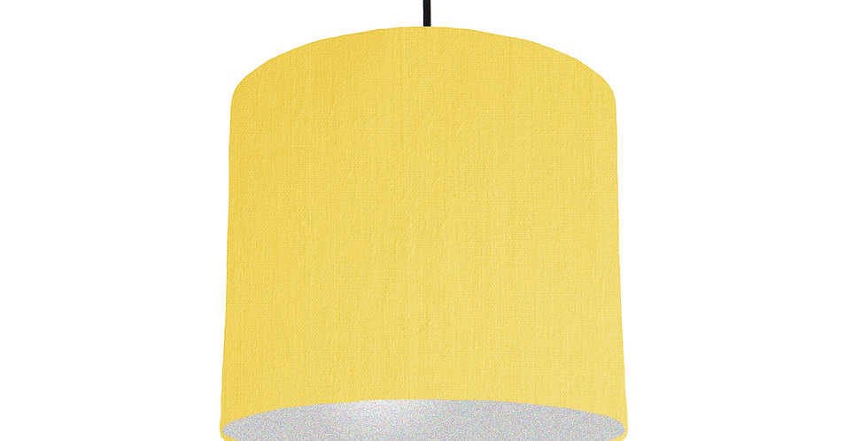 Lemon & Silver Lampshade - 25cm Wide