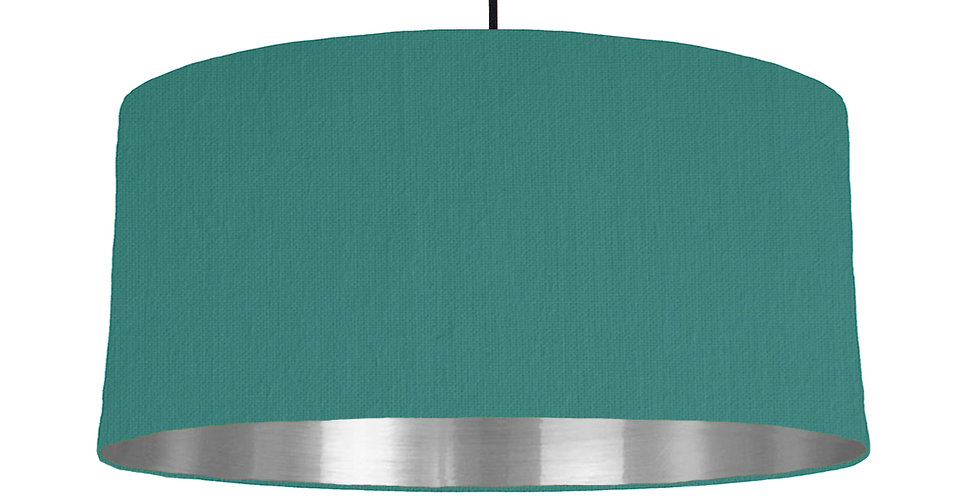 Jade & Silver Mirrored Lampshade - 60cm Wide