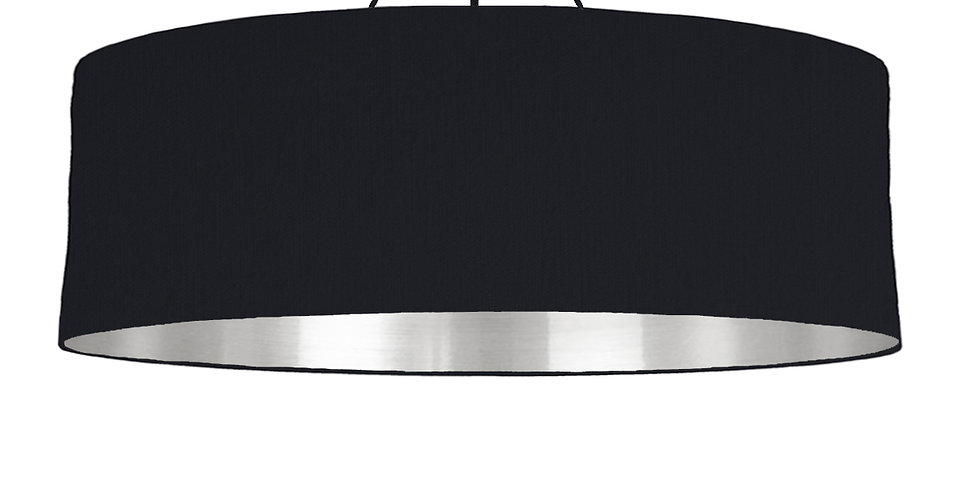 Black & Silver Mirrored Lampshade - 100cm Wide