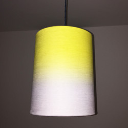 yellow faded lampshade