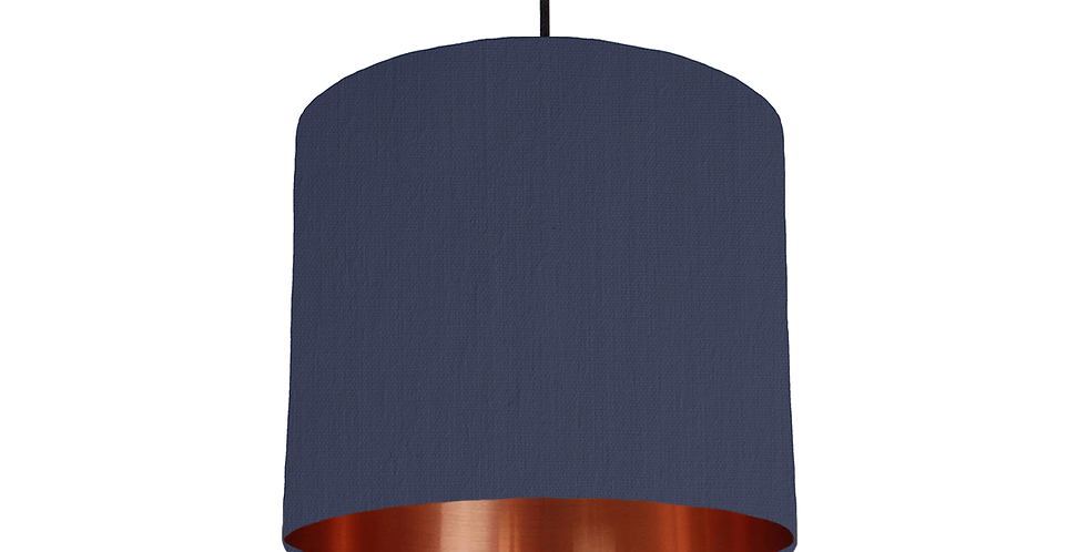 Navy & Copper Mirrored Lampshade - 25cm Wide