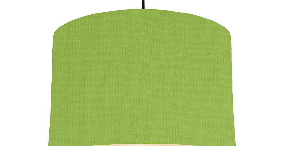 Pistachio & Ivory Lampshade - 30cm Wide