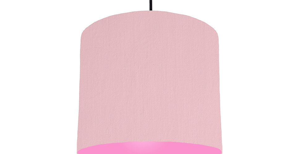 Pink & Pink Lampshade - 25cm Wide