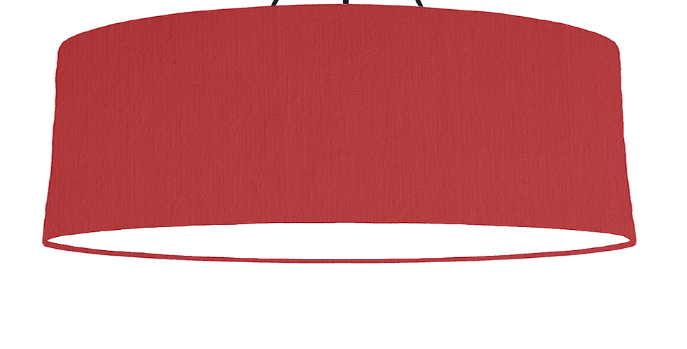 Red & White Lampshade - 100cm Wide