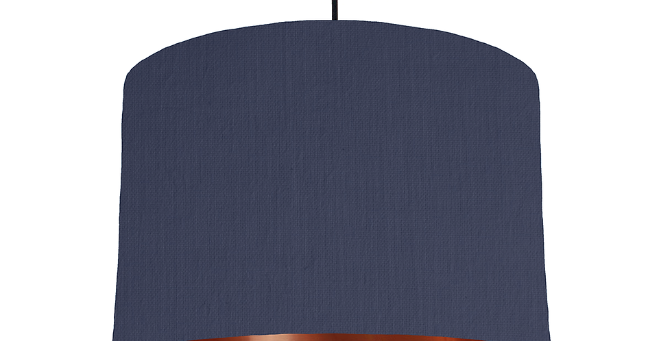 Navy & Copper Mirrored Lampshade- 30cm Wide