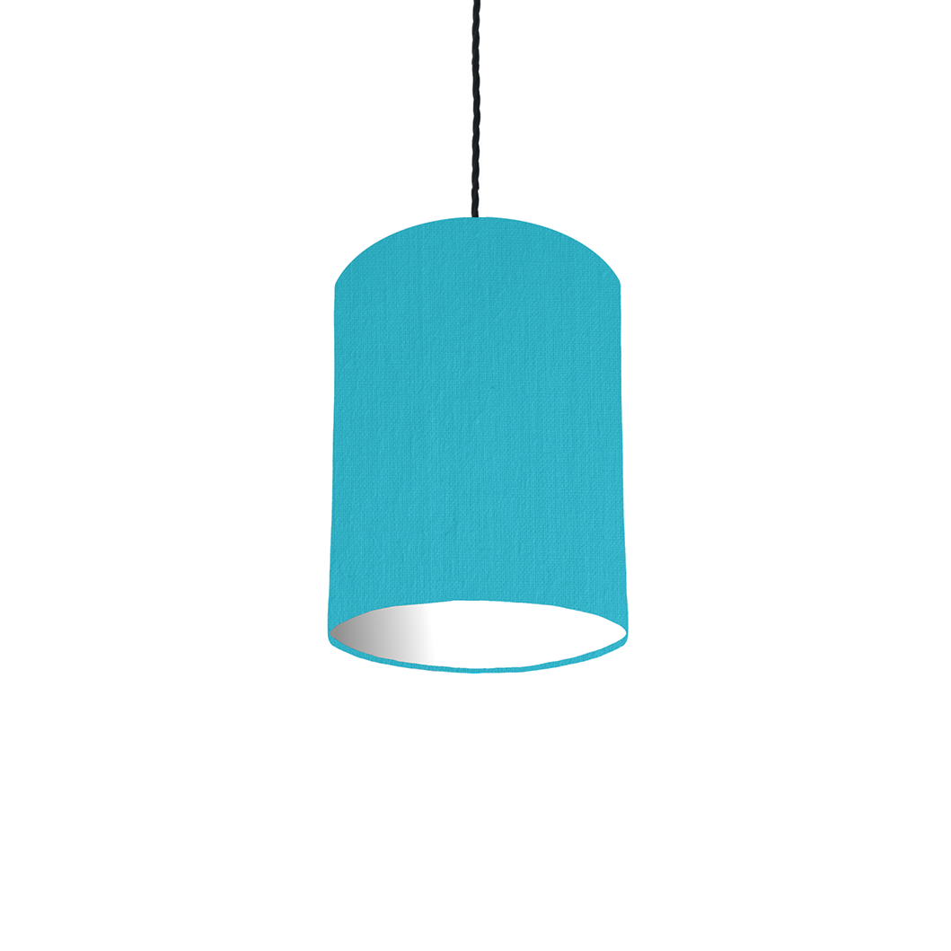 Turquoise lampshade