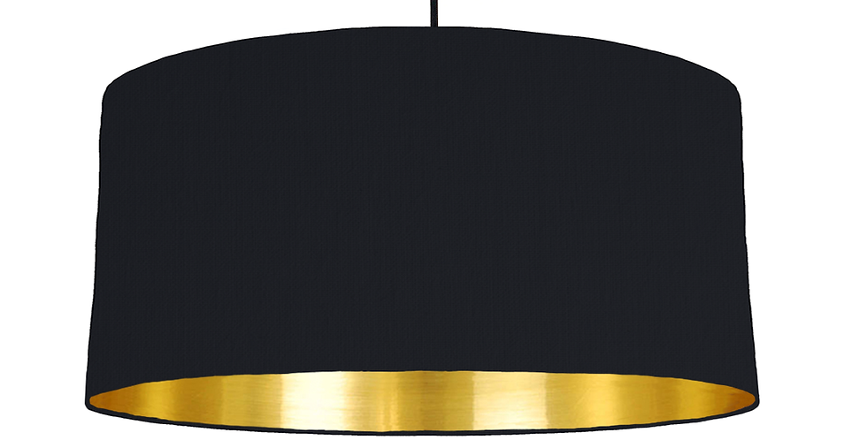 Black & Gold Mirrored Lampshade - 60cm Wide