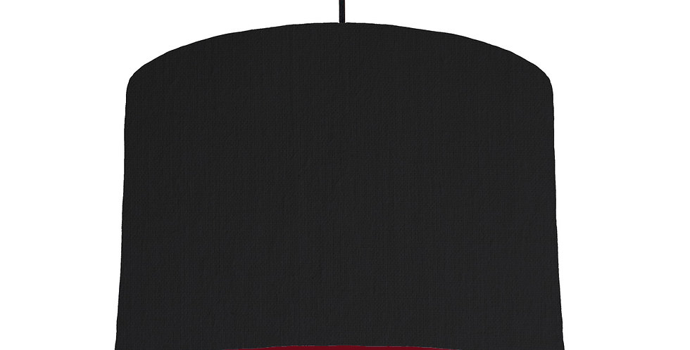 Black & Burgundy Lampshade - 30cm Wide