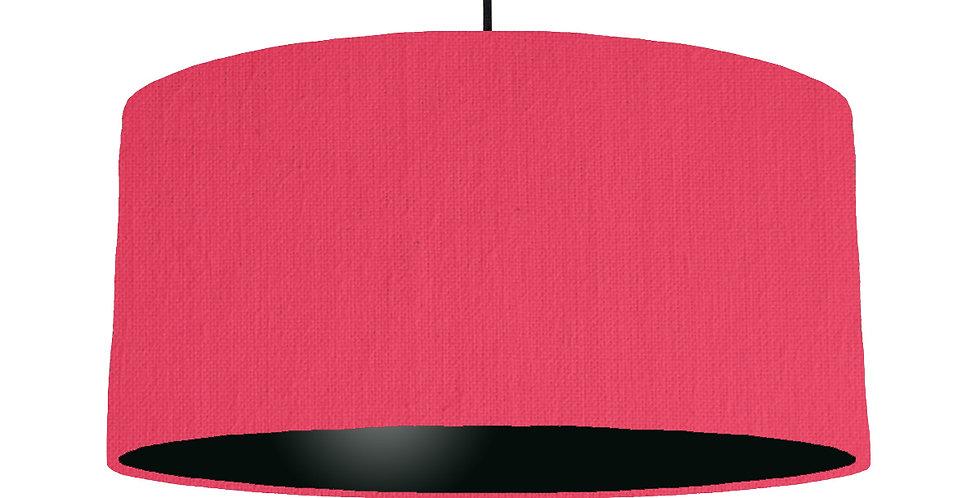 Cerise & Black Lampshade - 60cm Wide