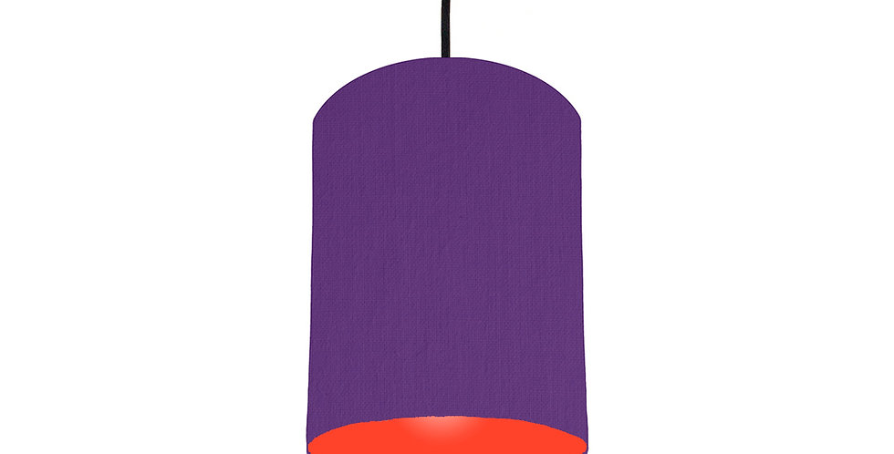 Violet & Poppy Red Lampshade - 15cm Wide