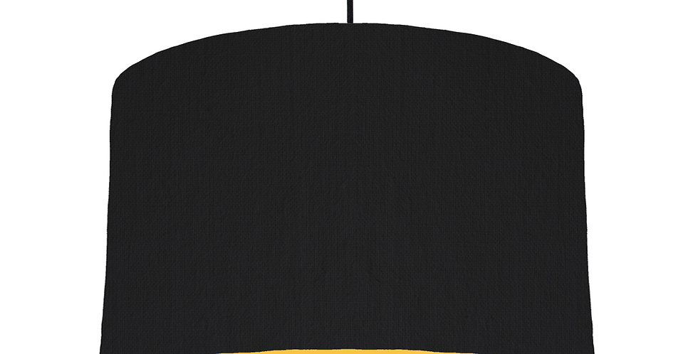 Black & Butter Yellow Lampshade - 40cm Wide