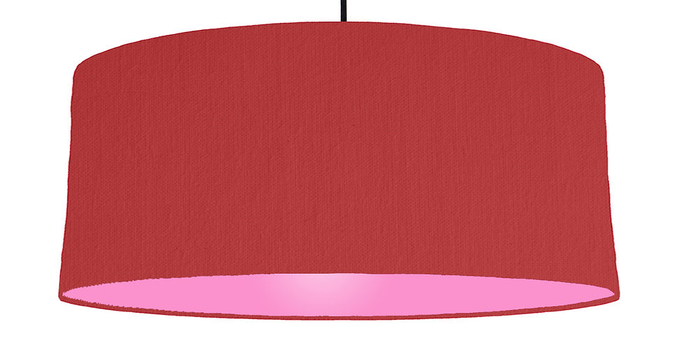 Red & Pink Lampshade - 70cm Wide