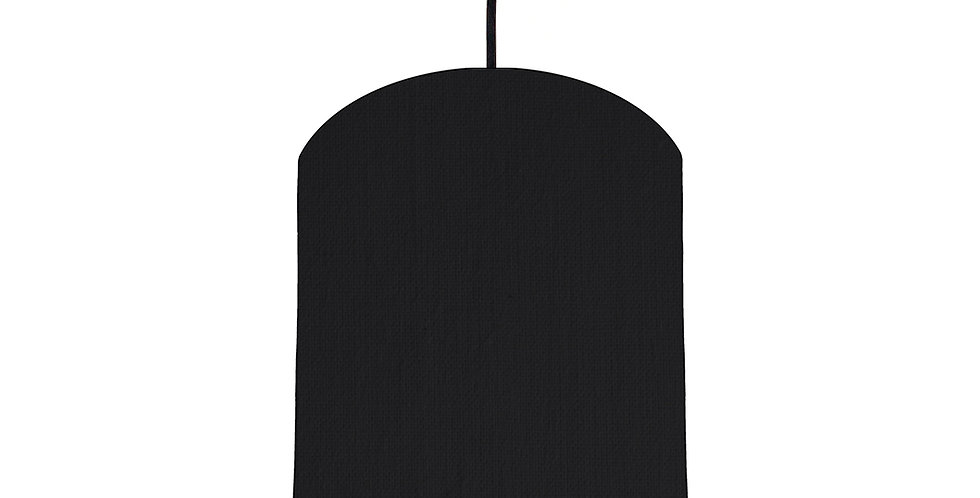 Black & Wood Lined Lampshade - 20cm Wide