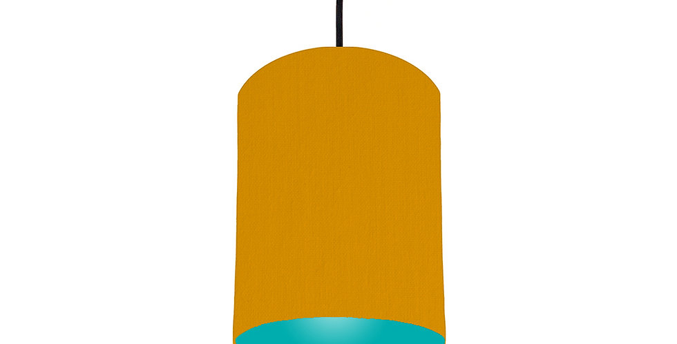 Mustard & Turquoise Lampshade - 15cm Wide