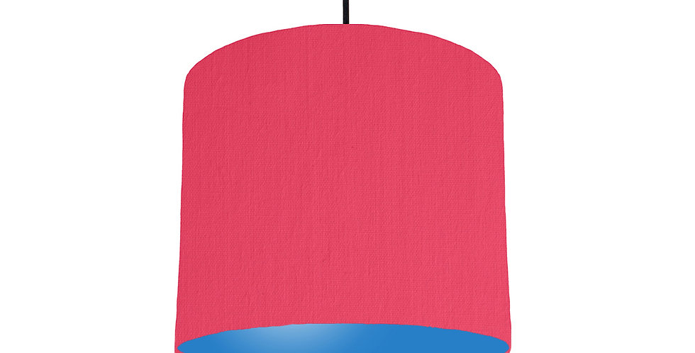 Cerise & Bright Blue Lampshade - 25cm Wide