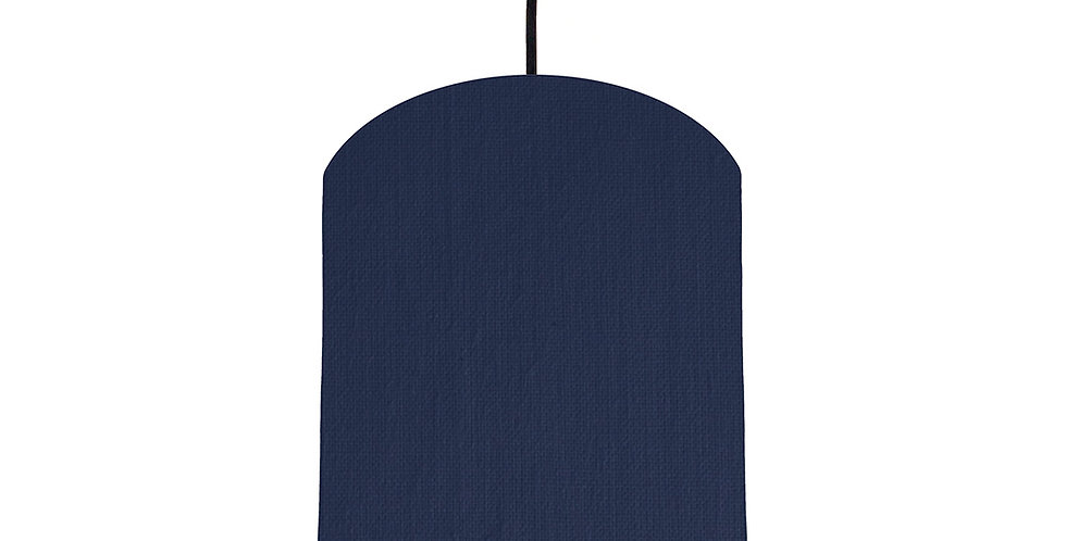 Navy Blue & Black Lampshade - 20cm Wide