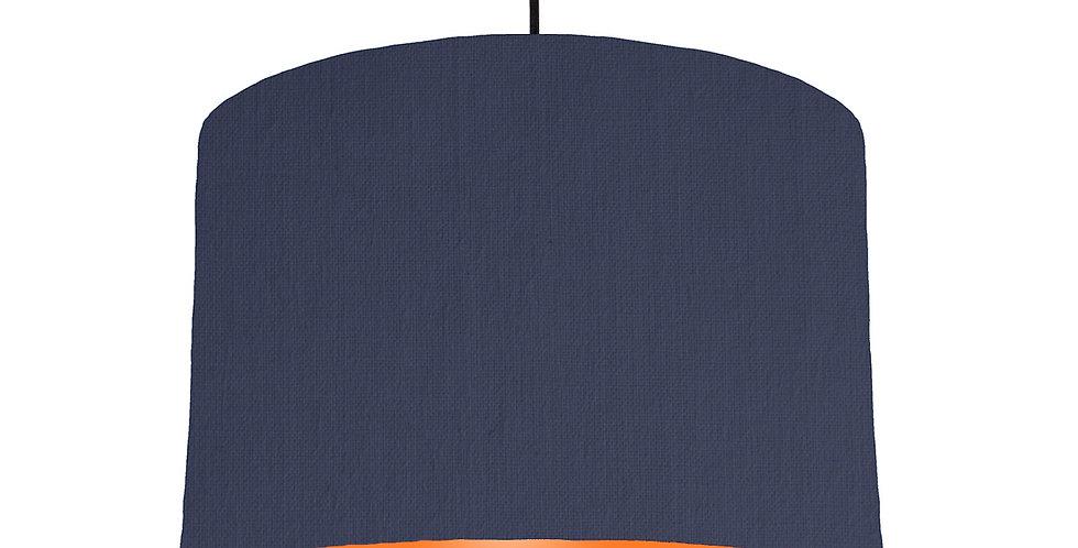Navy Blue & Orange Lampshade - 30cm Wide