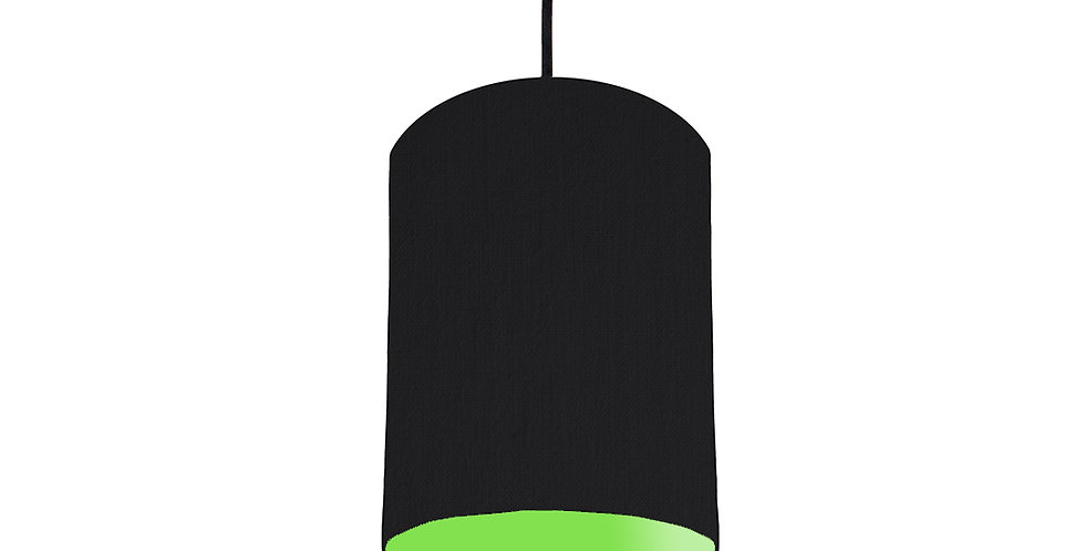Black & Lime Green Lampshade - 15cm Wide