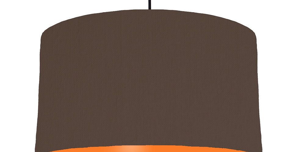 Brown & Orange Lampshade - 50cm Wide