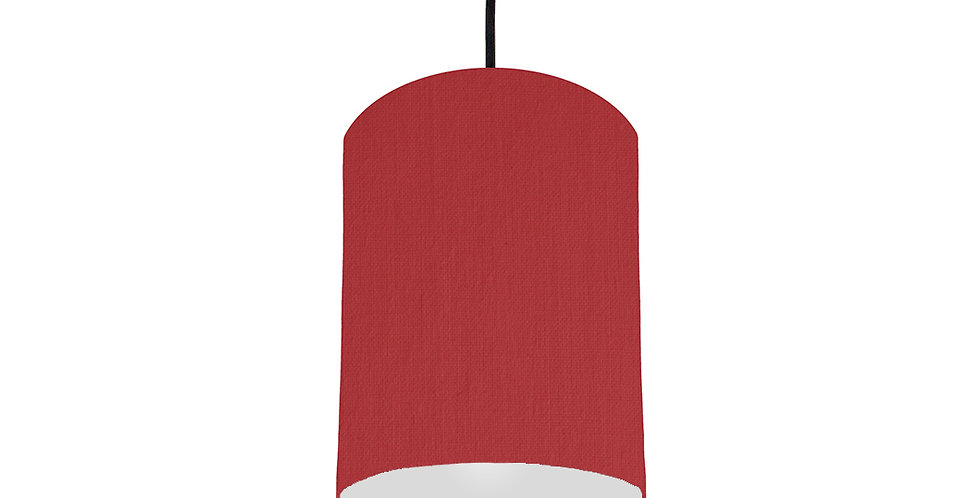 Red & Light Grey Lampshade - 15cm Wide