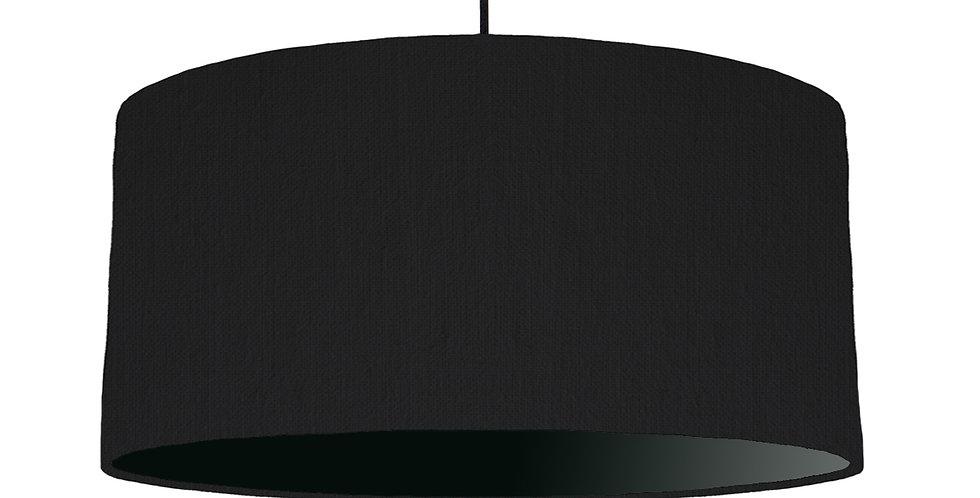 Black & Black Lampshade - 60cm Wide