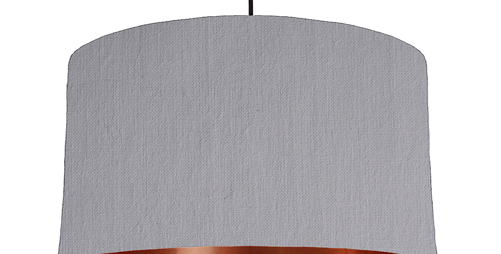 Light Grey & Copper Mirrored Lampshade - 50cm Wide