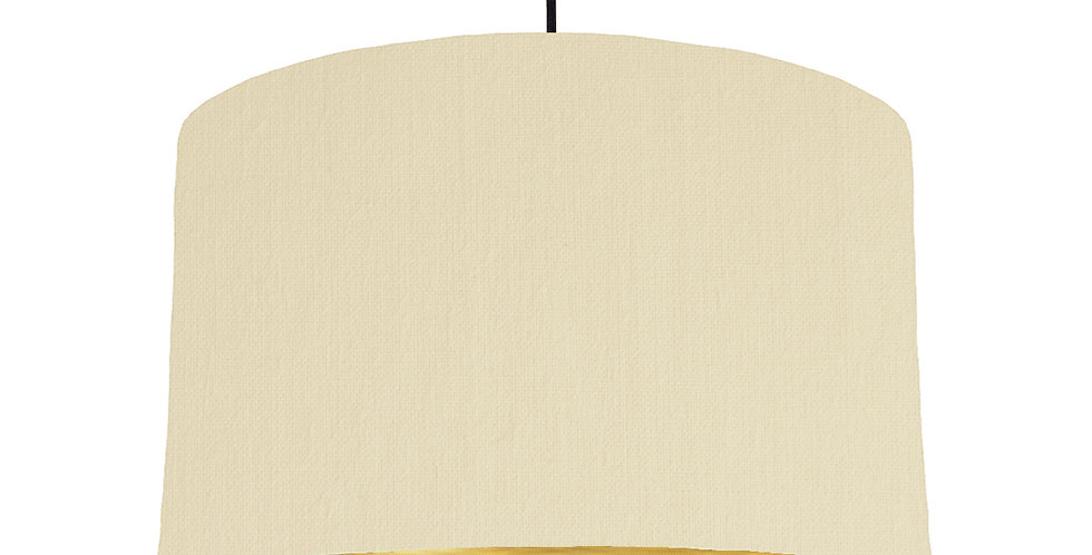 Natural & Brushed Gold Lampshade - 40cm Wide