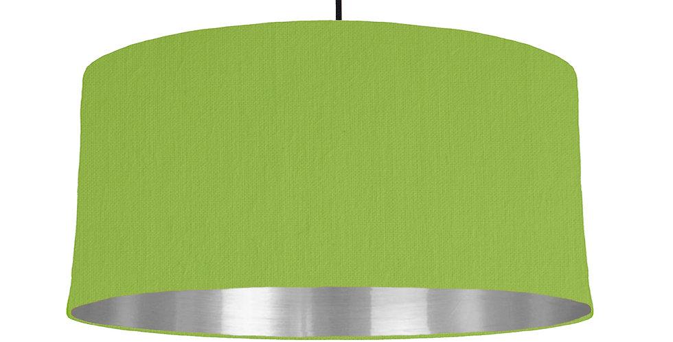 Pistachio & Silver Mirrored Lampshade - 60cm Wide