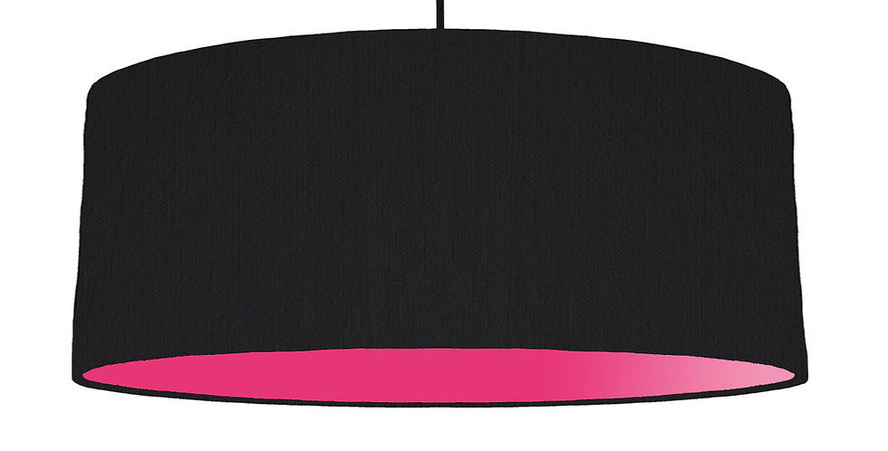 Black & Magenta Lampshade - 70cm Wide