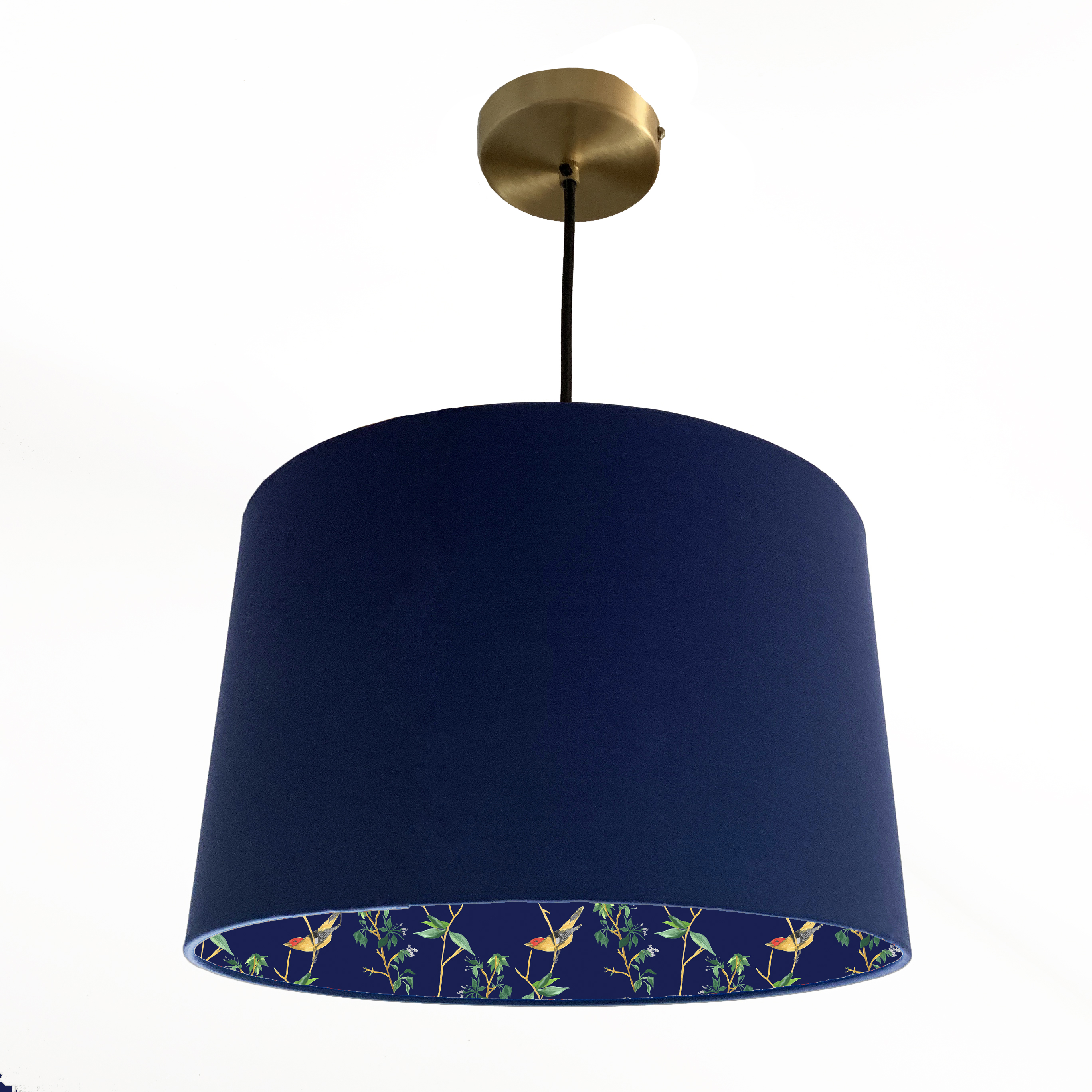 navy bird lampshade