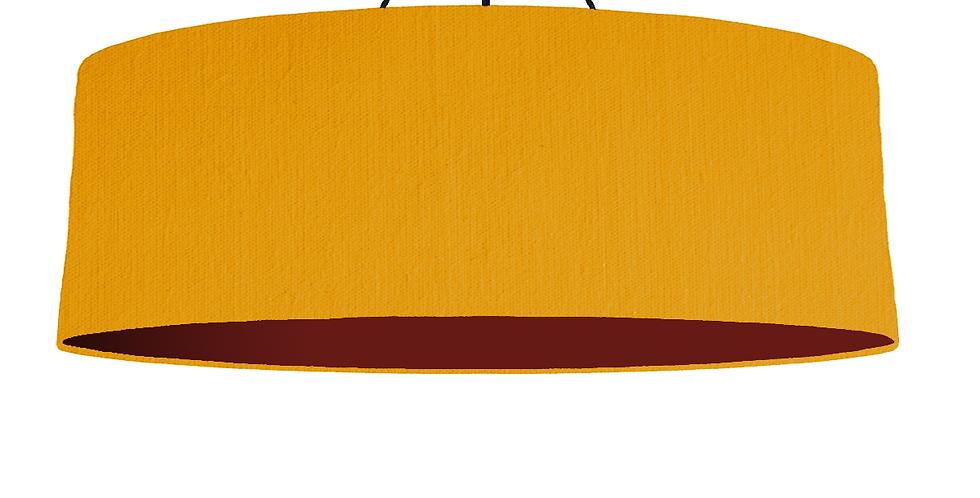 Mustard & Burgundy Lampshade - 100cm Wide