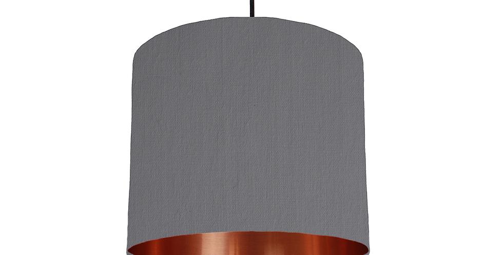 Dark Grey & Copper Mirrored Lampshade - 25cm Wide