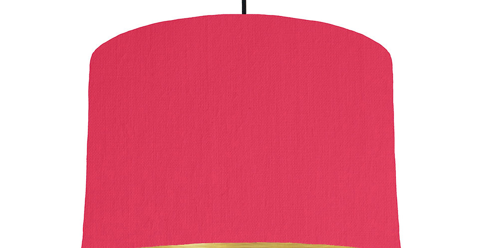 Cerise & Brushed Gold Lampshade - 30cm Wide
