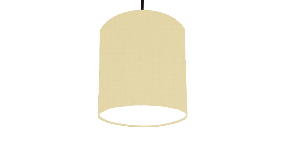Natural & White Lampshade- 15cm Wide