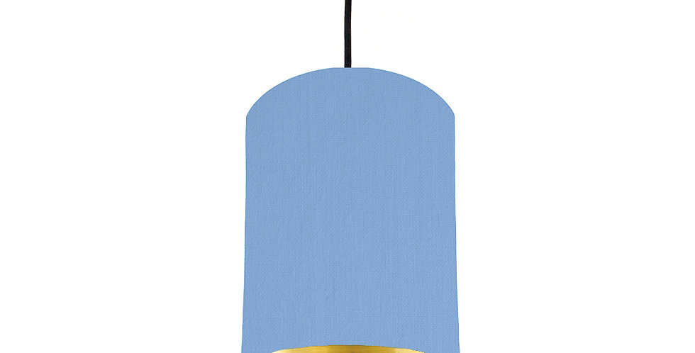 Sky Blue & Gold Mirrored Lampshade - 15cm Wide
