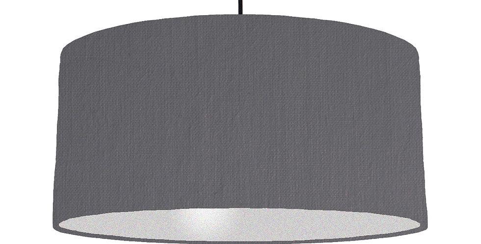 Dark Grey & Silver Lampshade - 60cm Wide