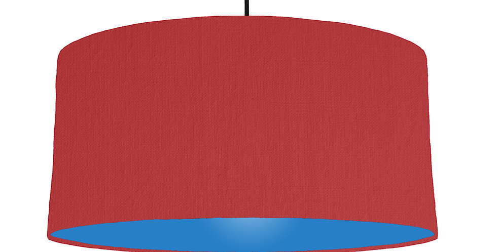 Red & Bright Blue Lampshade - 60cm Wide