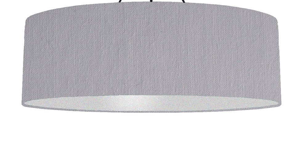 Light Grey & Silver Matt Lampshade - 100cm Wide