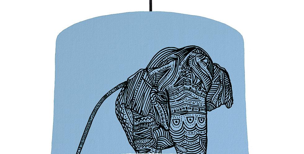 Elephant - Sky Blue Fabric