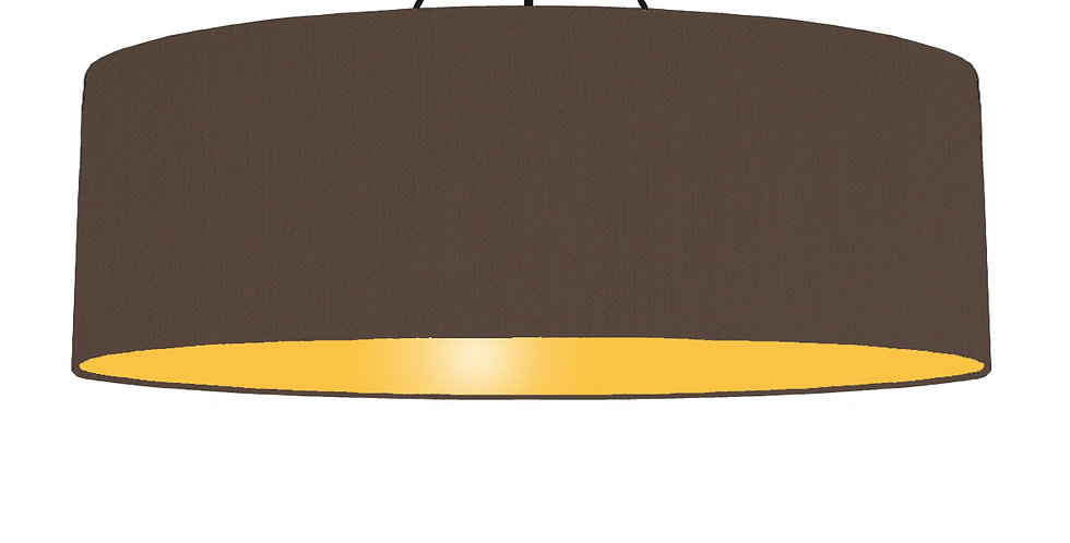 Brown & Butter Yellow Lampshade - 100cm Wide
