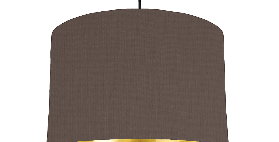 Brown & Gold Mirrored Lampshade - 30cm Wide