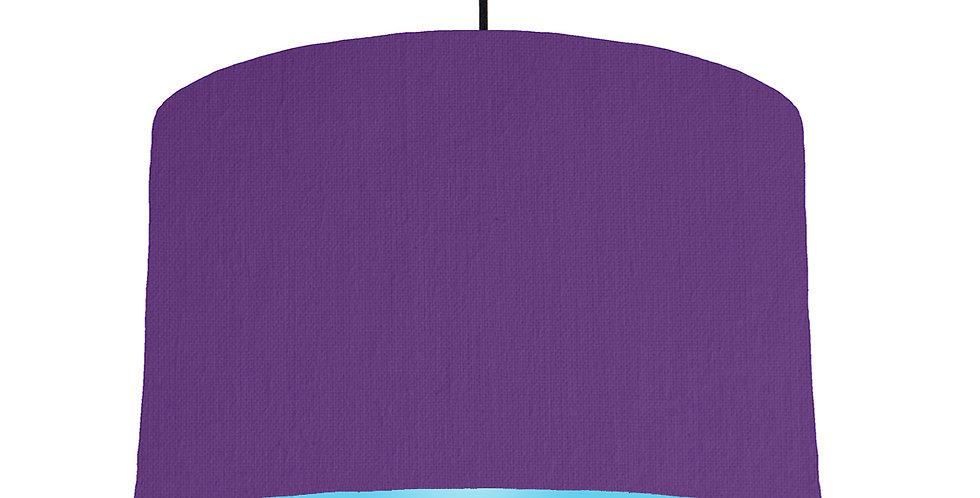 Violet & Light Blue Lampshade - 40cm Wide