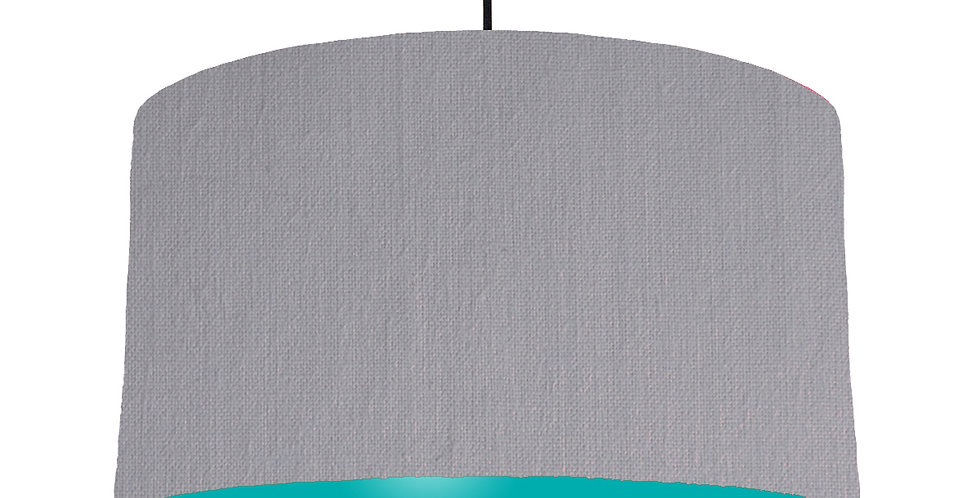 Light Grey & Turquoise Lampshade - 50cm Wide