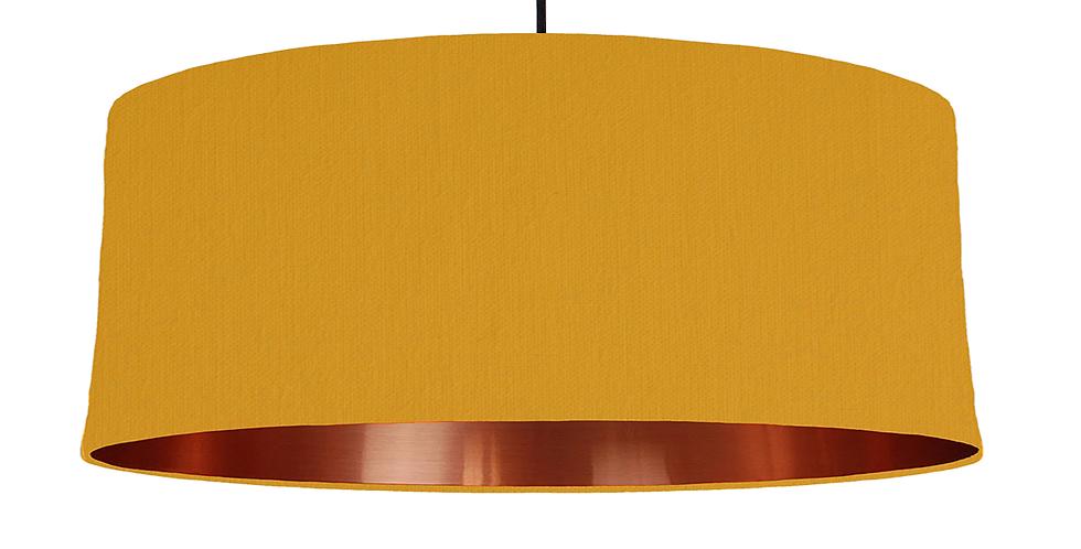 Mustard & Copper Mirrored Lampshade - 70cm Wide